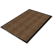 "Genuine Joe Dual Rib Carpet Floor Mat 72""L X 48""W Chocolate - GJO02401"