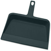 "Genuine Joe Dust Pan, Heavy-Duty, 12"", Black, GJO02406"