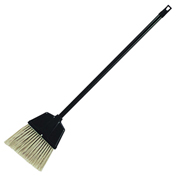 Genuine Joe Lobby Dust Pan Broom, Plastic, Black, 12/Case - GJO02408CT