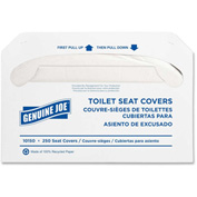 Genuine Joe Toilet Seat Covers - White, 250/Pk, GJO10150