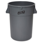 Genuine Joe Heavy Duty Trash Container, 44 Gallon, Plastic, Gray - GJO11581