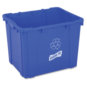 Genuine Joe Curbside Recycling Bin, 14 Gallon, Blue - GJO11582