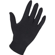 Genuine Joe Powdered Industrial Latex Gloves, 8 mil, XXL, Black, 100/Box