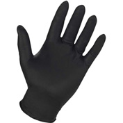 Genuine Joe Powder Free Industrial Nitrile Gloves, 6 mil, M, Black, 100/Box