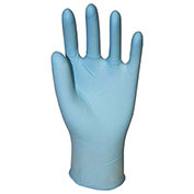 Genuine Joe Powder Free Industrial Latex Gloves, 14 mil, M, Dark Blue, 50/Box