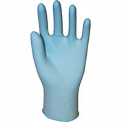 Genuine Joe Powder Free Industrial Latex Gloves, 14 mil, L, Dark Blue, 50/Box