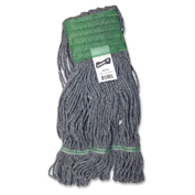 Genuine Joe Earth Mop Mophead Refill, Polyester, Medium, Blue - GJO20116
