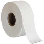 Genuine Joe 2 ply, Embossed Jumbo Roll Bath Tissue, 1000 Ft, 8/CT, White - GJO2506008