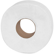 "Genuine Joe Jumbo Roll Bath Tissue 2 Ply 8-5/8"" Dia. 3-1/7"" x 650' 12 Rolls/Case White - GJO2565012"