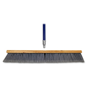 "Genuine Joe Floor Sweeper, 24"" Wide, 60"" Handle, Gray - GJO30125"