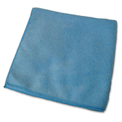 "Genuine Joe Microfiber Cloth, Gen. Purpose, Lint Free, 16"" x 16"", Blue, 12/Bag - GJO39506"