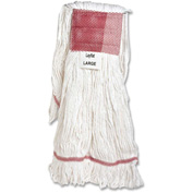 Genuine Joe Mop Head, Looped End, Cotton & Rayon, Large, GJO48251