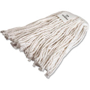 Genuine Joe Mop Refill, No 16 Rayon, 4-Ply, Cut End w/Headband, White, GJO48256