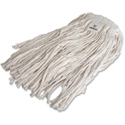 Genuine Joe Mop Refill, No 24 Rayon, 4-Ply, Cut End w/Headband, White, GJO48257