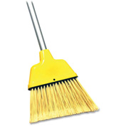 "Genuine Joe 9"" Wide Angle Broom w/47"" Steel Handle, Yellow - GJO58562"