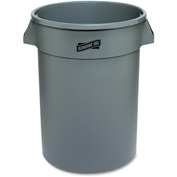 Genuine Joe Heavy Duty Trash Container 32 Gal. Plastic Gray - GJO60463