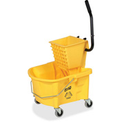 "Genuine Joe Mop Bucket/Wringer Combo, 3"" Casters, 26 Qt., Yellow, GJO60466"