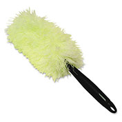 Genuine Joe Super Microfiber Duster, White/Green - GJO90112