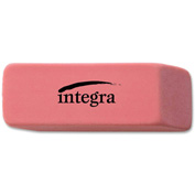 "Integra™ Pencil Eraser, Beveled End, Medium, 4/5""x2""x2/5"", Pink"