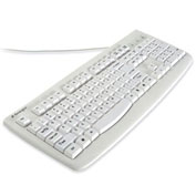 "Kensington® Pro Fit Washable Keyboard, 64406, Antimicrobial, 17-3/4"" X 6-3/4"" X 1"", White"