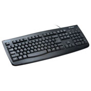"Kensington® Pro Fit Washable Keyboard, 64407, Antimicrobial, 17-3/4"" X 6-3/4"" X 1"", Black"