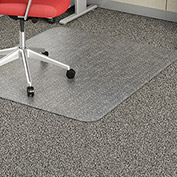 "Lorell® Economy Office Chair Mat for Carpet - 60""L x 46""W, 95 mil Thick - Beveled - Clear"