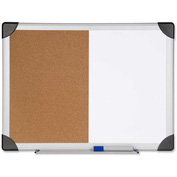 "Lorell Dry Erase/Cork Combination Board, 36""W x 24""H"