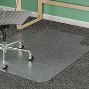 "Lorell® Anti-Static Office Chair Mat for Carpet -  53""L x 45""W, 0.38"" Thick with Lip - Beveled"