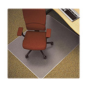"Lorell® Anti-Static Office Chair Mat for Carpet - 60""L x 46""W, 0.75"" Thick with Lip - Beveled"