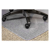 "Lorell® Office Chair Mat for Carpet - 60""L x 46""W, 0.75"" Thick with 12"" x 25"" Lip - Beveled"