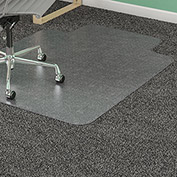 "Lorell® Office Chair Mat for Carpet - 48""L x 36""W, 0.75"" Thick with 10"" x 19"" Lip - Beveled"
