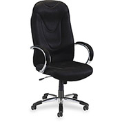 "Lorell® Airseat High-Back Fabric Chair, 30-1/2""W x 25-1/2""D x 50-1/2""H, Black"