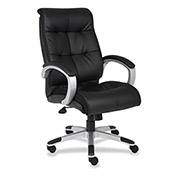 Lorell High-Back Executive Chair, LLR62620, Bonded Leather, Black