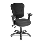 "Lorell® Accord Mid-Back Task Chair, 26-3/4""W x 26""D x 42""H, Black"