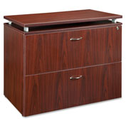 "Lorell 68600 Series 2-Drawer File, LLR68718, 36""W x 22""D x 30""H, Mahogany"