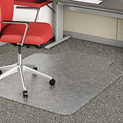 "Lorell® Office Chair Mat for Carpet - 60""L x 46""W 0.11"" Thick with 12"" x 25"" Lip - Beveled Edge"