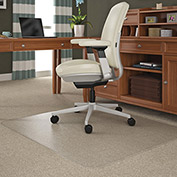 "Lorell® Office Chair Mat for Carpet - 60""L x 46""W, 0.5"" Thick - Beveled Edge - Clear"