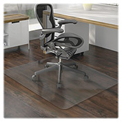 "Lorell® Office Chair Mat for Hard Floor -  60""L x 46""W - Straight Edge - Clear"