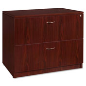 "Lorell® 2-Drawer Lateral File - 35""W x 22""D x 29-1/2""H - Mahogany - Essentials Series"