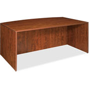 "Lorell® Bow Front Desk Shell - 72""W x 36""D x 29-1/2""H - Cherry - Essentials Series"