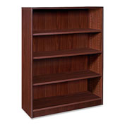 "Lorell® 69000 Series 4-Shelf Bookcase, 36""W x 12-1/2""D x 48""H, Mahogany"