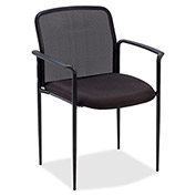 "Lorell® Reception Side Chair, 23-3/4""W x 23-1/2""D x 33""H, Black Fabric Seat/Mesh Back"