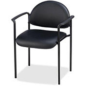 "Lorell® Reception Guest Chair, 23-3/4""W x 23-1/2""D x 30-1/2""H, Black Vinyl Seat"
