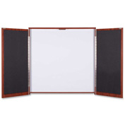 "Lorell Presentation Cabinet - Drywipe Whiteboard, Hinged Door w/Cherry Frame, 47-1/3""W x 47-1/3""H"