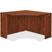 "Lorell® Corner Desk - 42""W x 24""D x 29-1/2""H - Cherry - Essentials Series"