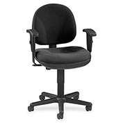 "Lorell® Millenia Pneumatic Adjustable Task Chair, 24""W x 24""D x 38""H, Black"