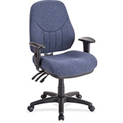 "Lorell® Baily High-Back Multi-Task Chair, 27""W x 28""D x 44""H, Blue"