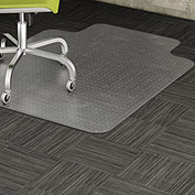 "Lorell Office Chair Mat for Carpet -  48""L x 36""W with 10""L x 19""W Lip - Straight Edge - Clear"