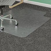 "Lorell Office Chair Mat for Carpet - 36""W x 48""L with 10"" x 19"" Lip - Straight Edge - Clear"