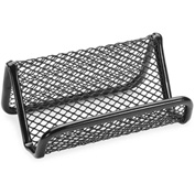 Lorell® Business Card Holder, Steel, Black